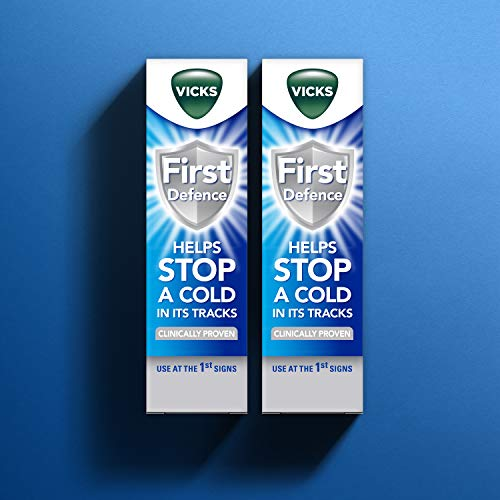 Vicks First Defence Nasal Spray, Microgel Formula to Help Stop a Cold in its Tracks, 2 x 15 ml (Twin Pack)