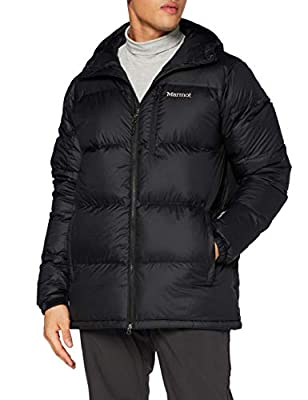 Marmot Men's Guides Down Hoody, Warm Down Jacket, Insulated Hooded Winter Coat, Duck Down Parka, Lightweight Packable Outdoor Jacket