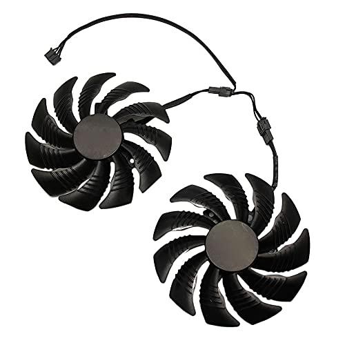 Bayda - Ventilador de tarjeta gráfica refrigerador GPU para REDEON AORUS RX580/570 GIGABYTE GV-RX570 AORUS GV-RX580AORUS (2 unidades)