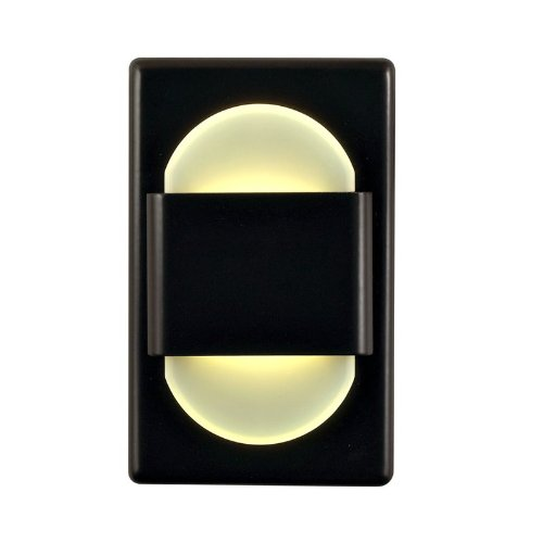 Alico Industries WLE105DR32K-10-B EZ Step LED C/W Driver in Bronze with Double Round White Opal Acrylic Diffuser Under Cabinet/Utility, Medium