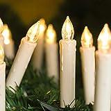 KooPower 40 velas LED con mando a distancia, velas sin llama, temporizador, IP64, impermeables, regulables, para árbol de Navidad, decoración de Navidad, bodas, cumpleaños y fiestas