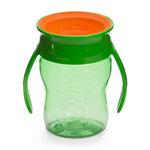 Wow Cup para bebé 360 Trainer Sippy Taza, 7 oz/207 ml, Verde