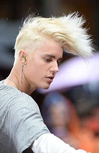 Justin Bieber On Stage For Nbc Today Show Concert With Justin Bieber Rockefeller Plaza New York Ny September 10 2015 Photo By Kristin CallahanEverett Collection Photo Print (16 x 20)