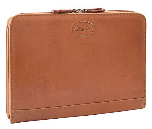A1 FASHION GOODS Echtes Hellbraun Leder Folio Fall Tablette A4 Dokument Unter Dem Arm Konferenztasche Ben