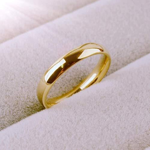 BLUESTEER Anello Semplice da 4 mm Anello in Oro Rosa Moda Anello da Coppia Esclusivo per Uomo e Donna, 4, J5