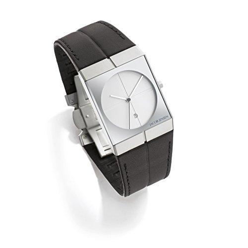 Jacob Jensen Herren Analog Quarz Uhr mit Leder Armband 232