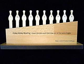 Creative Crafthouse Holey Moley 10 Pin Bowling Wooden Brainteaser