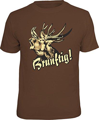 T-Shirt für den Jäger: Brunftig! Größe XL, Nr.1818