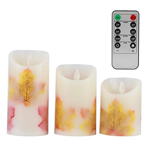 Lámpara de velas LED, Lámpara de velas eléctricas sin llama Luz de vela con control remoto Simulación Luz de vela parpadeante Velas falsas