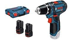 Bosch Professional 12V system cordless screwdriver GSR 12V-15 (incl.2x 2,0 Ah battery, in L-BOXX)