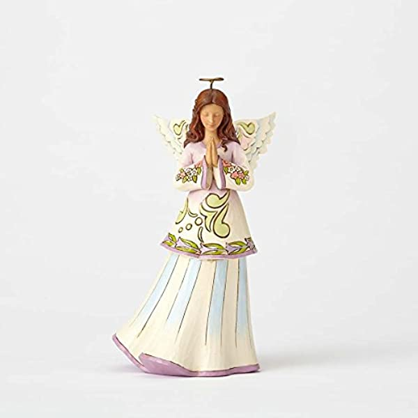 Jim Shore Heartwood Creek By Enesco Praying Angel Figurine 4057688
