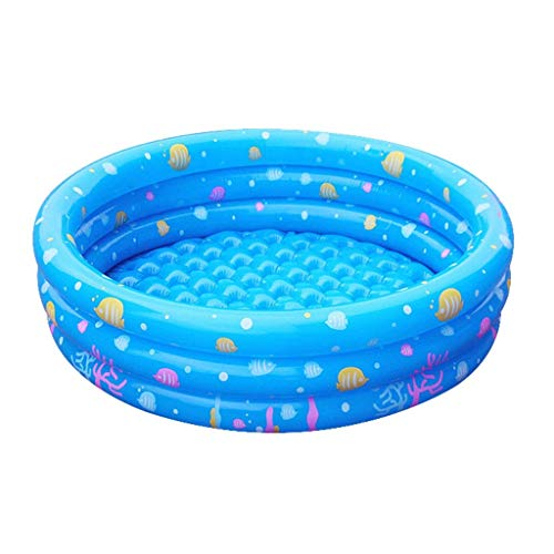 NMBD Swimming Round Inflatable Swimming Pool, Three Rings Pool Thick Wear-resistant Marine Ball Pool Floating Rafting Pool Outdoor Toy Pool Family Water Park (Size : 80cm) KAIRUI (Size : 100cm)