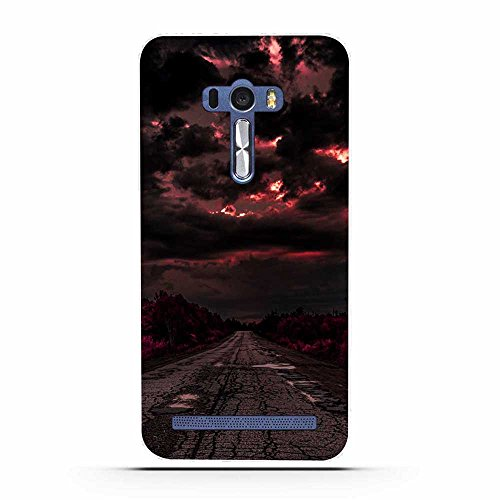 FUBAODA für Asus ZenFone Selfie ZD551KL Hülle, Schöne & romantische Landschaft Serie TPU Case Schutzhülle Silikon Case für Asus ZenFone Selfie ZD551KL