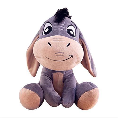 N/ A Coton Peluche Drôle Poupée De Chiffon Animal Rempli Jouet Cadeau Courte Peluche Poupée Wnkls (Color : Donkey, Size : 28cm)