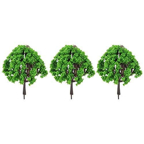 マイクロガーデン植物の装飾、休日の装飾のための家の装飾のためのミニチュアツリー多肉植物の装飾軽量3PCS