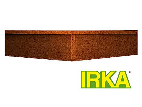 IRKA Schneckenzaun aus Corten Stahl – sichere Schneckenabwehr ohne Chemie Schrauben