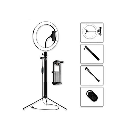 Anillo De Luz LED con Trípode, Regulable Anillo De Luz, 3 Modos De Color Y Brillo 10, USB Accionado, Intensificar La Manguera, Soporte for Teléfono For Transmisión En Vivo, Maquillaje, Zoom