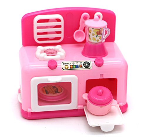 Little Treasures Oven and Stove Burner Appliances Set with Mini Cooking Pot/Blender Jug/Ladle and Baking Tray Also Consists of a Ventilator Fan, Appliance for Ages 3 Plus, Battery Operated