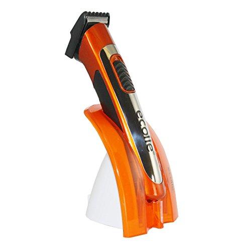 Ecolle Profi Akku Haarschneidemaschine Haarschneider Bartschneider Trimmer - Ergonomisches Design Orange