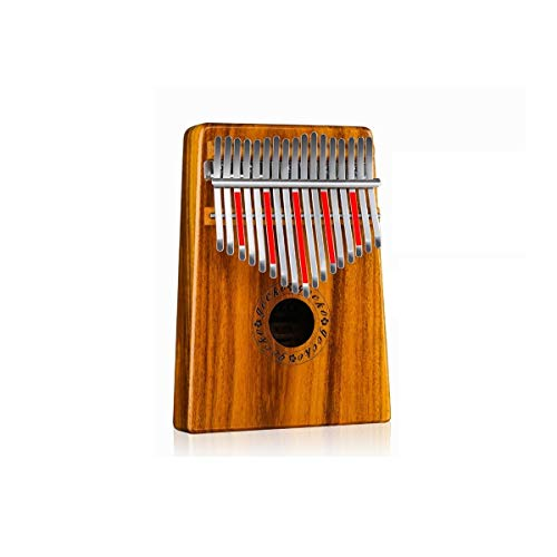 HMLSM Piano de Pulgar Kalimba de 17 Teclas, Madera de Acacia