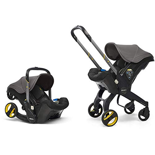 Doona Car Seat and Pram, Urban Grey, Revolutionary 0+ Car Seat that Folds Between Car Seat & Pram in Seconds, ISOFIX Base Available. Car Seat H60cm x W44cm, Pram H99cm x 82cm. Perfect for Travelling