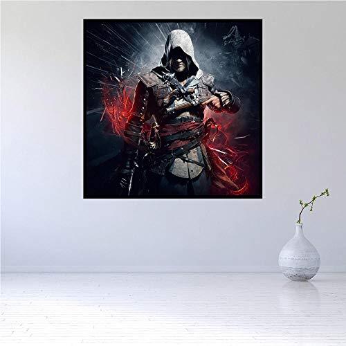 WSKPE DIY Digitale Malerei, kreative Malerei auf Leinwand, Moderne Wandkunst Film Assassin's Creed Black Flag Home Decoration Ölgemälde, 40 * 50cm