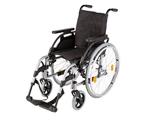 Sunrise Medical Rollstuhl Breezy PariX², faltbar, verstellbare Rückenlehne I Faltrollstuhl bis 125 kg belastbar, aus Stahl Standard-Rollstuhl in 5 Sitzbreiten, Sitzbreite: 48 cm