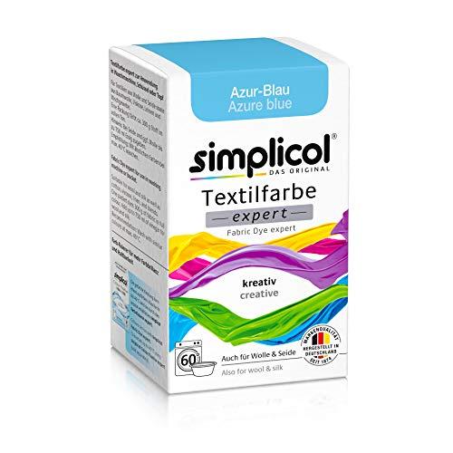simplicol Expert Fabric Dye Tinte de Coloración para Textiles: Lavado a Mano o Lavadora - Tiñe y Restaura Sus Telas y Ropa - Azul