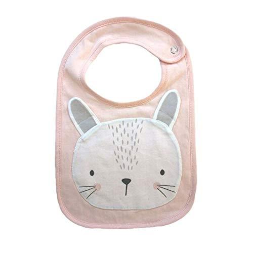 Baberos para bebé recién nacido, diseño de dibujos animados, impermeable, toalla de saliva, bufanda de algodón, para bebés de 0 a 3 años (color: unicornio, tamaño: 30 x 18 cm)