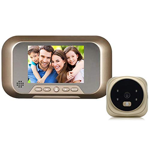 Sbeautli Al Aire Libre Timbre electrónico Mirilla Digital hogar cámara de visión visibles Timbre Mirilla Visor de vídeo Timbre de la Puerta la Noche Fácil Instalación