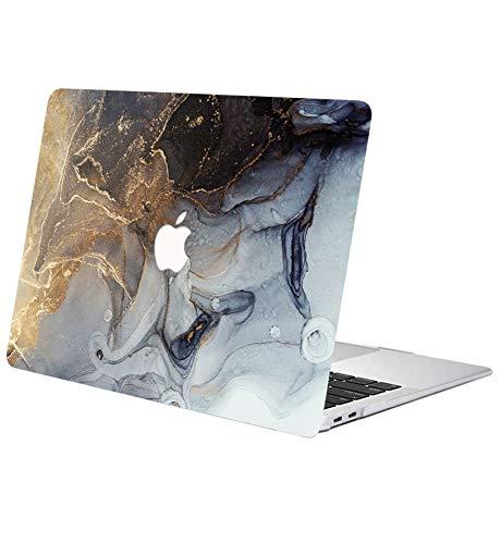 """ACJYX Custodia per MacBook Air 13 Pollici 2020 2019 2018 Modello A1932 A2179 Guscio Protettivo Plastica Liscia con Stampati Copertina Laptop per Nuova Versione MacBook Air 13"""", Marmo Dorato"""