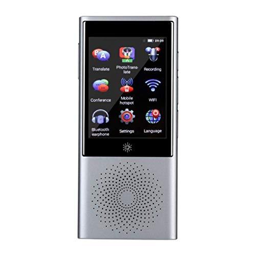 RUIXFEC Portable Languages Translator, Unterstützung für Echtzeit-Übersetzungsgeräte 45 Sprachen Mini Bluetooth Global Translator für geschäftliches Lernen, Reisen, Einkaufen