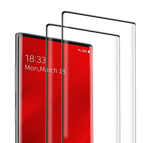 DEKOLY Vetro Temperato per Samsung Galaxy Note 10 [2 Pezzi], 3D Copertura Completa Pellicola Protettiva in Protezione Schermo con Kit di Installation - Nero