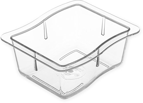 Buy Discount Carlisle 698607 Modular Displayware Polycarbonate Third-Size Food Pan with Wavy Edge, 4...