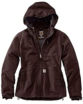 Carhartt Women s Full Swing Caldwell Jacket  Regular and Plus Sizes  Dark Brown/Shadow Large