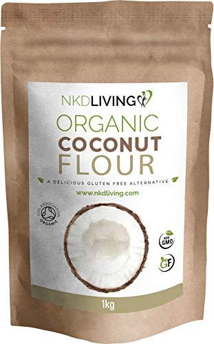 Harina de coco orgánica (1 kg) de NKD Living - Certificación orgánica de Soil Association