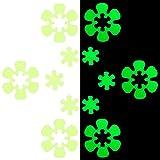 NO 24 PCS Adesivi Antiscivolo Adesivi da Bagno Antiscivolo Impermeabili Adesivo Luminoso a Forma di Fiore Adesivi Vasca da Bagno con Autoadesiva per Vasca Scale e Altre Superfici Scivolose