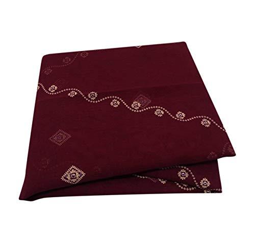 PEEGLI Indio Étnico Vintage Sari Granate Mujeres Abrigo Vestido Georgette Mezcla Tela Reciclada Ropa Casual Textil Drapeado Tela De La Envoltura Floral DIY Arte Sari