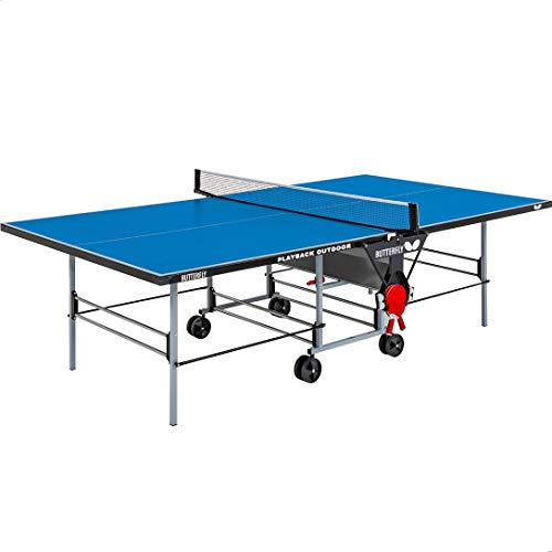 Butterfly Playback Rollaway Outdoor Ping Pong Table Rolling Outdoor Table Tennis...