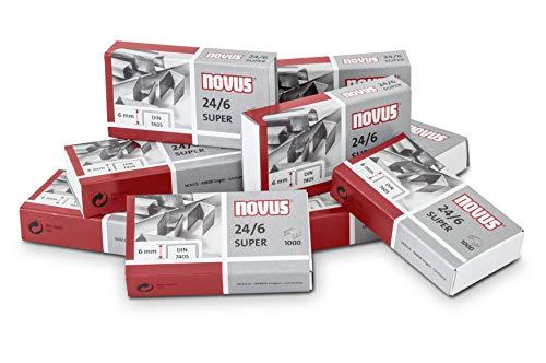Novus Heftklammer (für Bürohefter HK 24/6 DIN Super, 100 Schachteln á 1000 Klammern)