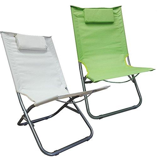Spiaggina Verde Mela con Cuscino Cuscino poggiatesta Imbottito per Mare, Campeggio, giradino - 3246