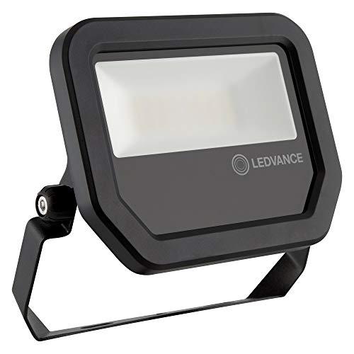 Ledvance FLOODLIGHT 4058075420960 - Faro LED da parete/soffitto / pavimento, 20 W / 20 W, 100 - 277 V, bianco caldo, 3000 K, materiale della cassa: alluminio, IP65, colore: Nero
