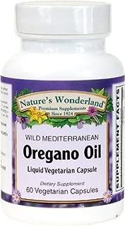 Nature's Wonderland Oregano Standardized Oil, 45 mg, 60 Vegetarian Capsules