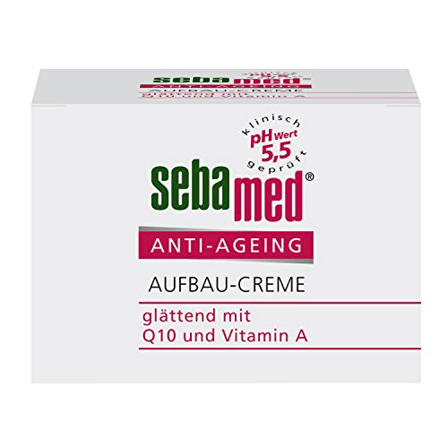 Sebamed Anti-Ageing Aufbau-Creme 50ml, mindert die Faltentiefe und verbessert die Elastizität der Haut, mit Q10 und Vitamin A
