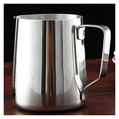 XIN NA RUI Jarra para espumar de leche, 350 ml de acero inoxidable para cocina, manualidades, café, leche espumosa, jarra para latte (color: 350 ml)