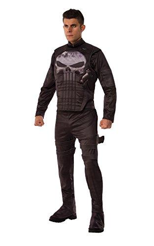 Marvel Men's Universe Deluxe Punisher Costume, Multi, Standard