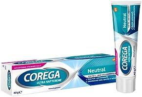 Corega Ultra Neutral Zelfklevende Crème Voor Kunstgebit/Derde Tanden, Zonder Kunstmatige Kleur- En Aromastoffen, 40 g