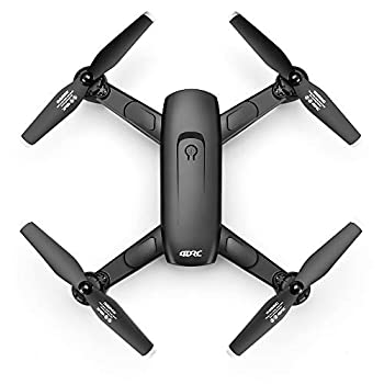 4DRC F6 GPS 4K Drone with Camera for Adults,5Ghz HD FPV Live Video RC Foldable Quadcopter,2 Battery,Follow Me,Auto Return Home Waypoints,Optical Flow Headless Mode,Carrying Case,Easy to Use for Beginner