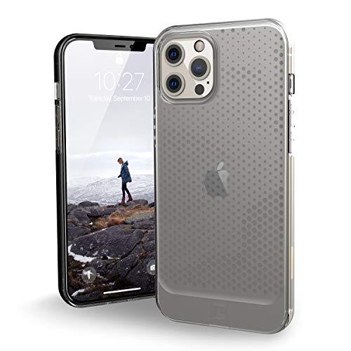 Urban Armor Gear - U by UAG [U] Lucent Case Apple iPhone 12 Pro MAX (6,7'') Funda Protectora (Semitransparente, Compatible con la Carga inalámbrica, Resistente a los Golpes) - Ice (Transparente)