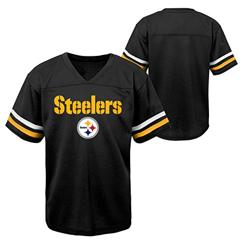 Outerstuff NFL Toddlers Short Sleeve Football Team Jersey, Pittsburgh Steelers 4T